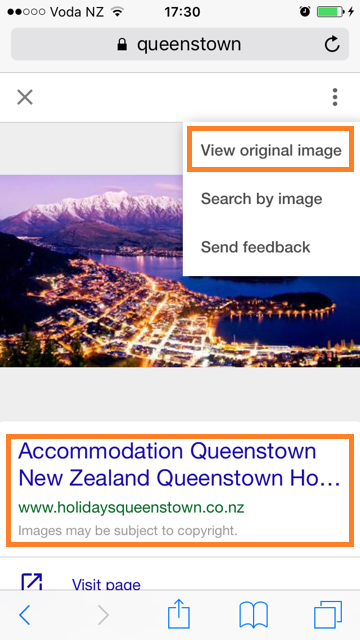Google image search via mobile phones has new options NZ - Phancybox New Zealand digital agency