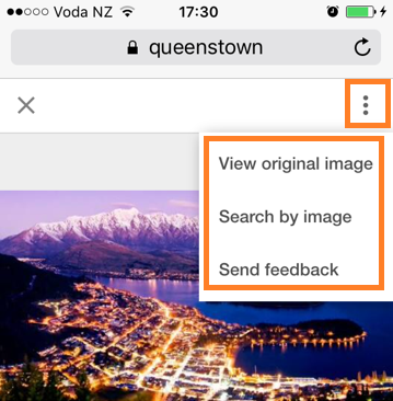 Google image search via mobile phones has new options - Phancybox New Zealand digital agency
