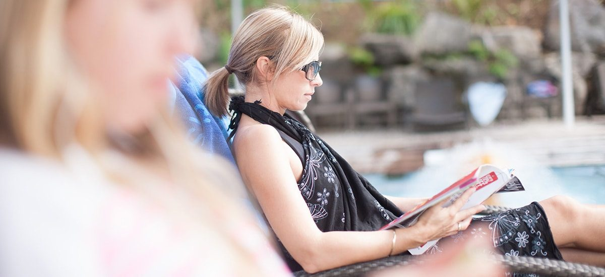 Waihi Beach Top10 New Zealand web design by Phancybox New Zealand digital agency lady relaxing at pool